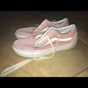 pink Vans size 7 women's
